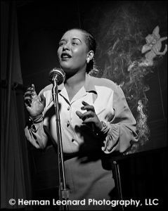 Image of Billie Holiday (with Smoke), New York City